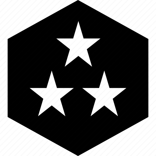 abstract, stars, three icon