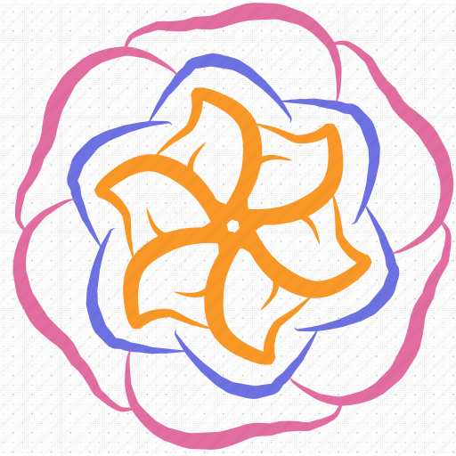 abstract, creative, design, flower, project, shape icon