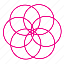 abstract, circle, creative, design, flower, project, shape icon