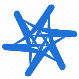 abstract, creative, design, project, shape, star icon