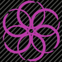 abstract, circle, creative, design icon