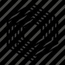 abstract, hexagon, shape