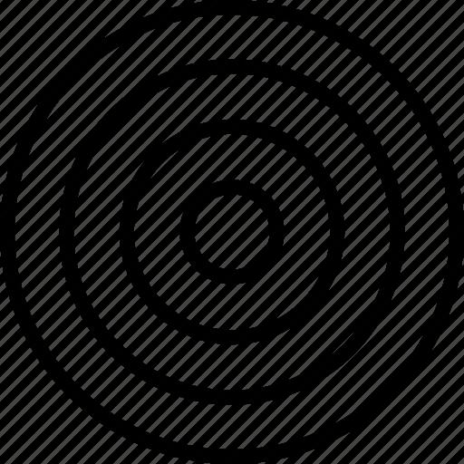 abstract, bulls, dot, eye, sign icon