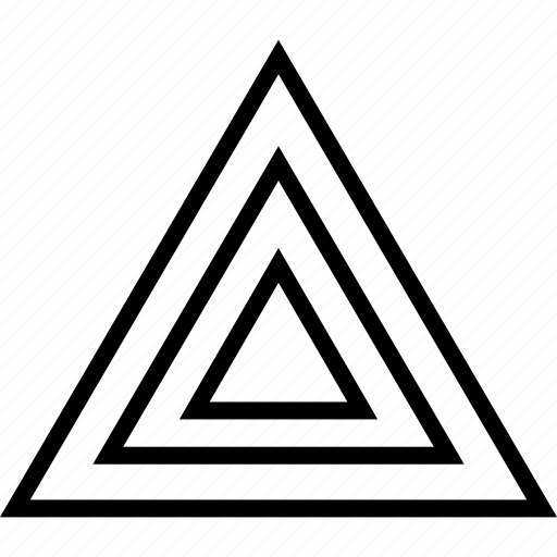 abstract, pyramid, sign, triangle icon