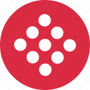 abstract, creative, design, dots, nine icon