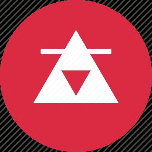 abstract, creative, design, line, three, triangles icon