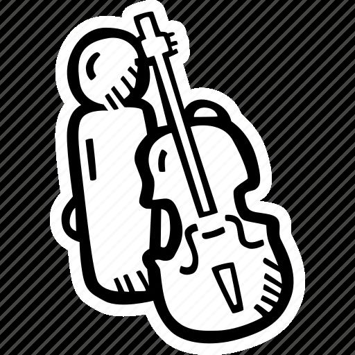 band, cello, concert, music, musician icon