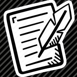 creative, creative writing, edit, paper, poem, words, writing icon