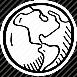 america, earth icon