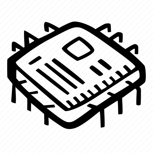 computer construction, electronics, processor icon