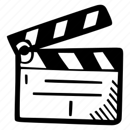 film, film slate, production icon