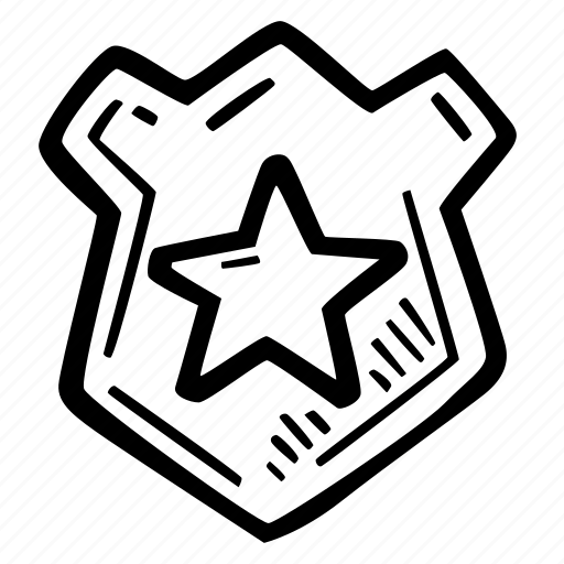 badge, enforcement, law, police officer icon