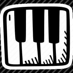 instrument, music, piano icon