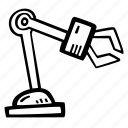 arm, automation, mechanical, robot, robotics icon