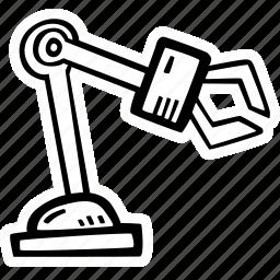arm, automation, mechanical, robot, robotics icon