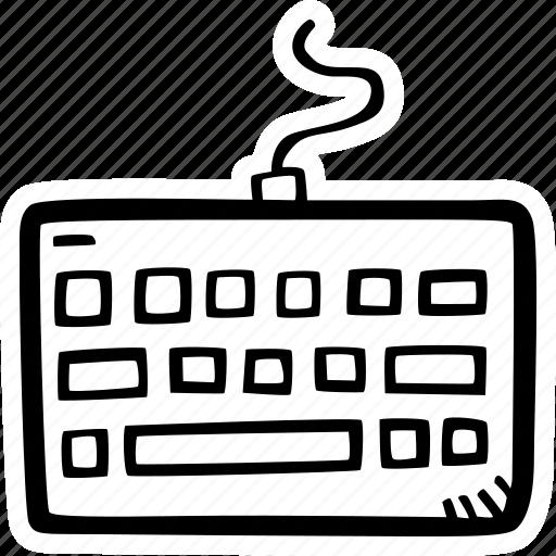 keyboard, typing icon