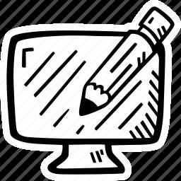 computer, design, pencil, web, web design icon
