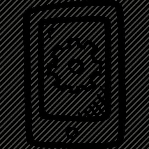 app, development, mobile device, mobile phone, options icon