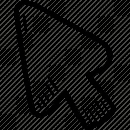 arrow, coursor, digital, media icon