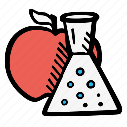chemistry, food, food chemistry, foods icon