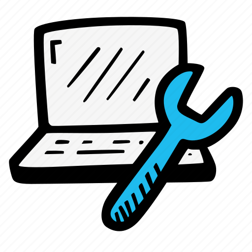 computer, laptop, notebook, repair icon