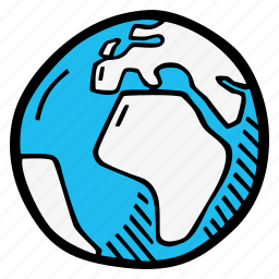 affrica, earth icon