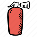 fighting, fire, fire extinguisher icon
