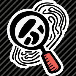 crime, detective, finger print, fingerprint, forensic, science icon