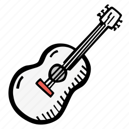 guitar, instrument, music icon