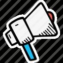 anouncment, marketing, megaphone, news icon