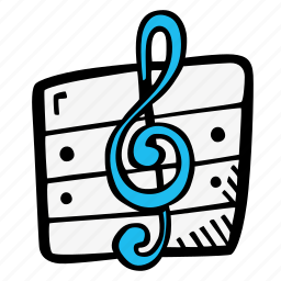 music, music notes, theory icon