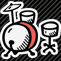 instrument, music, percusion icon