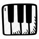 instrument, music, piano icon