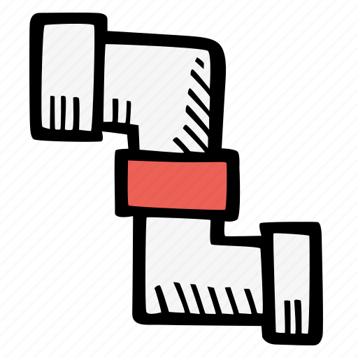 pipe, plumbing icon