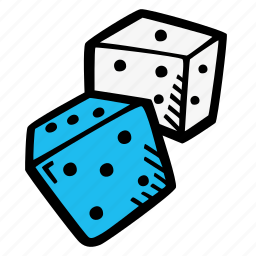 dice, gaming, probability icon