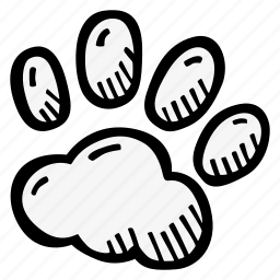 animal, paw, zoology icon