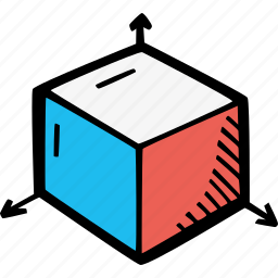 animation, art, art 3d, cube, dimentions, modeling, third dimention icon