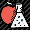 chemistry, food, food chemistry, foods icon