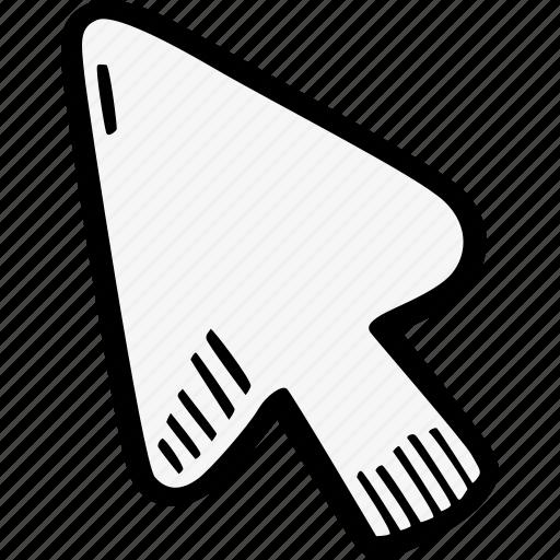 arrow, coursor, digital, media, pinter icon