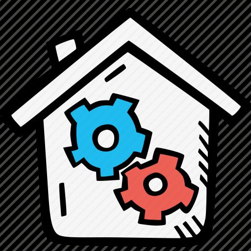 economics, home, management icon