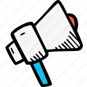 anouncment, marketing, megaphone, news