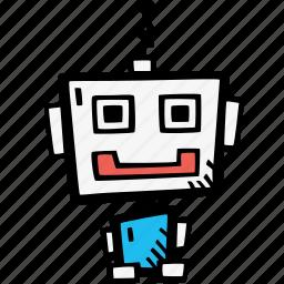 programming, robot, robotics icon