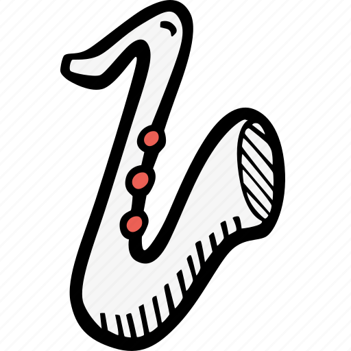 instrument, music, saxophone icon