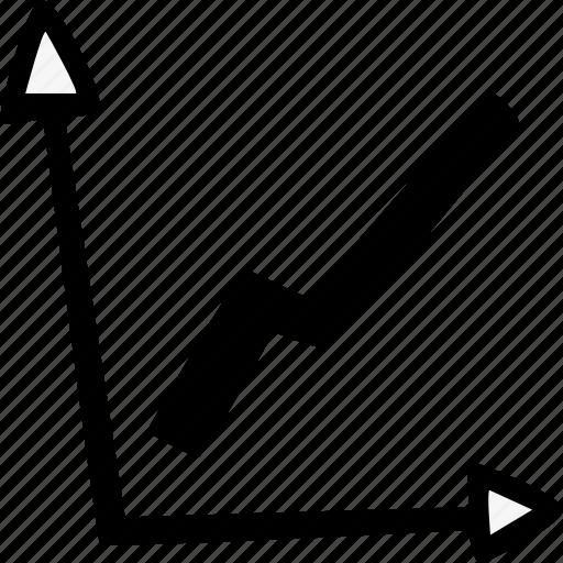 economy, graph, statistics icon