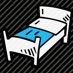 bed, sleep, tourism, travel icon