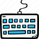 keyboard, typing icon