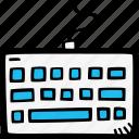 keyboard, typing