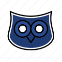 dark, owl, samet, school, teacher icon
