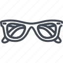 accessories, clothes, glasses, line, outline, sun, sunglasses icon