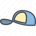 accessories, cap, clothes, filled, outline icon